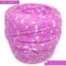 ไหมผ้า (T-shirt yarn) สีชมพูท๊อปดาย คาดริ้วขาวเล็ก (Top Dyed Pink with small White Stripe)