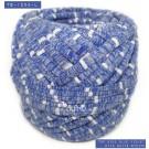 ไหมผ้า (T-shirt yarn) สีน้ำเงินม่วงท๊อปดาย คาดริ้วขาวเล็ก (Top Dyed Blue Violet with small White Stripe)