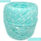 ไหมผ้า (T-shirt yarn) สีมิ๊นท์ท๊อปดาย คาดริ้วขาวเล็ก (Top Dyed Mint with small White Stripe)