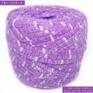 ไหมผ้า (T-shirt yarn) สีม่วงท๊อปดาย คาดริ้วขาวเล็ก (Top Dyed Purple with small White Stripe)