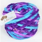 ไหมพรมอูด้ง ม่วงฟ้า ม่วงไทย/ม่วงหวาน/ฟ้าคราม (Violet Blue)