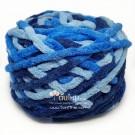 ไหมพรมอูด้ง สีฟ้าน้ำเงินสามสีไล่สี (THREE BLUE GRADIENT)