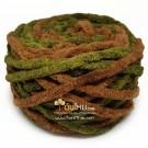 ไหมพรมอูด้ง สีเขียวทหาร/น้ำตาลเปลือกไม้ (Army Green/Bark Brown)