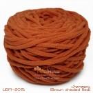 ไหมพรมอูด้งลิตเติ้ล รุ่นเส้นกลมเนื้อเนียน สีน้ำตาลแดง แก่นขนุน (Brown shaded Red) (ก้อนใหญ่ 160g.)