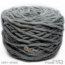 ไหมพรมอูด้งลิตเติ้ล รุ่นเส้นกลมเนื้อเนียน สีเทากลาง (Middle Gray) (ก้อนใหญ่ 160g.)
