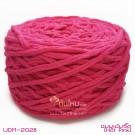 ไหมพรมอูด้งลิตเติ้ล รุ่นเส้นกลมเนื้อเนียน สีชมพูเข้มจี๊ด (Hot Pink) (ก้อนใหญ่ 160g.)
