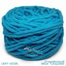ไหมพรมอูด้งลิตเติ้ล รุ่นเส้นกลมเนื้อเนียน สีฟ้าเทอร์ควอยส์ (Blue Turquoise) (100g.)
