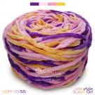 ไหมพรมอูด้งลิตเติ้ล รุ่นเส้นกลมเนื้อเนียน สีสวีทเกิร์ล ชมพูอ่อน-หวาน / เหลืองอมส้มหมีพูห์ / ม่วงไทยพาณิชย์ (SWEET GIRL Light-Sweet Pink / Pooh Yellow / SCB Purple) (ก้อนใหญ่ 160g.)