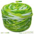ไหมพรมอูด้งลิตเติ้ล รุ่นเส้นกลมเนื้อเนียน สีข้าวเหนียวใบเตย ขาว / เขียวอ่อน / เขียวเข้ม (Green Pandan sticky rice) (ก้อนใหญ่ 160g.)